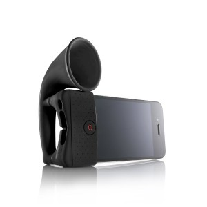 Portable amplifier speaker horn for iPhone